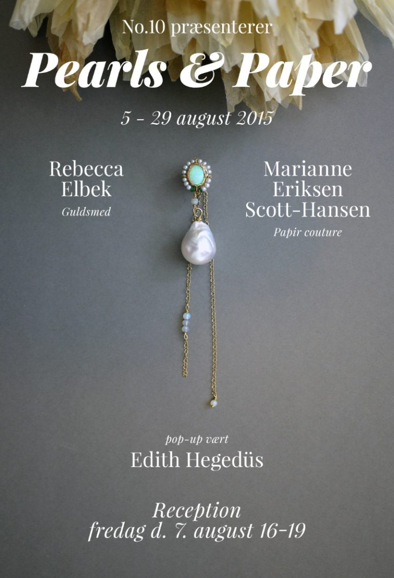 Pearls and Paper · Jewellery and Paper Flowers · No.10 Edith Hegedüs