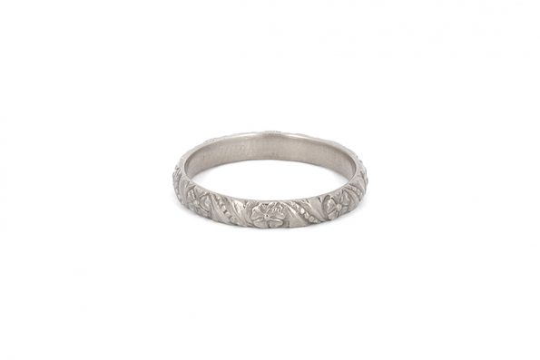 Wedding Rings in White Gold · 14ct White Gold · Design Edith Hegedüs