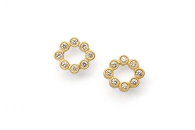 Diamond Studs Gold · Gigi Studs with Diamonds · No.10 Edith Hegedüs