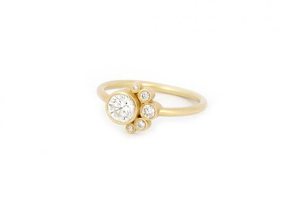 Big Diamond Ring · 18ct Gold · Design Edith Hegedüs