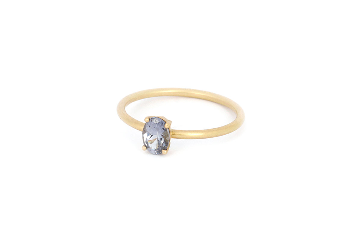 4173113b29d Ring with blue stone · Liebling Ring with Spinel · No.10 Edith Hegedüs