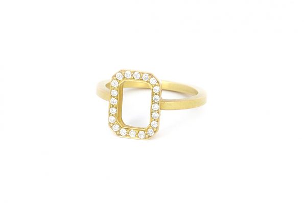 Solitaire ring guld · 18kt Guld · Design Edith Hegedüs