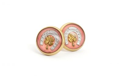 Unique Earrings · Studs with Vintage Intaglio · No.10 Edith Hegedüs