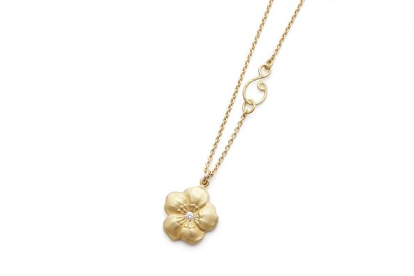 Necklace with Flower · Anemone Necklace with Diamond · No.10 Edith Hegedüs