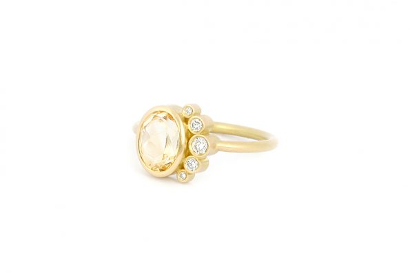 Ring with Citrine · 18ct Gold · Design Edith Hegedüs