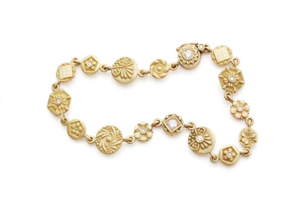 Link Bracelet · Liaisons Bracelet with Diamonds · No.10 Edith Hegedüs