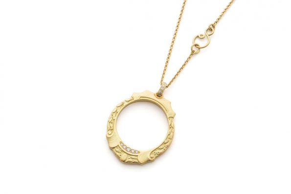 Gold medal · Olympia Necklace with Diamonds · No.10 Edith Hegedüs