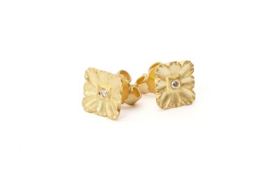 Gold Studs · Lace Studs with Diamonds · No.10 Edith Hegedüs